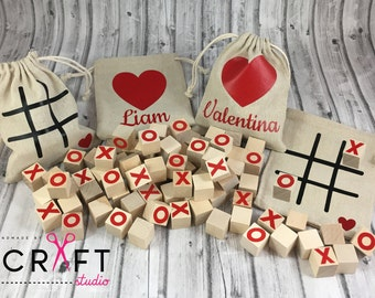Tic tac toe-Tic tac toe game-kids games-travel games-personalized-personalized toys-car games-gifts for kids-party favor-valentines day gift