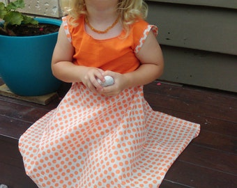 Spotty Orange Dress Size 3