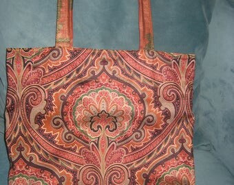 Hand Made 1970s Hippie Fabric Purse/Bohemian Handbag/Shoulder Bag