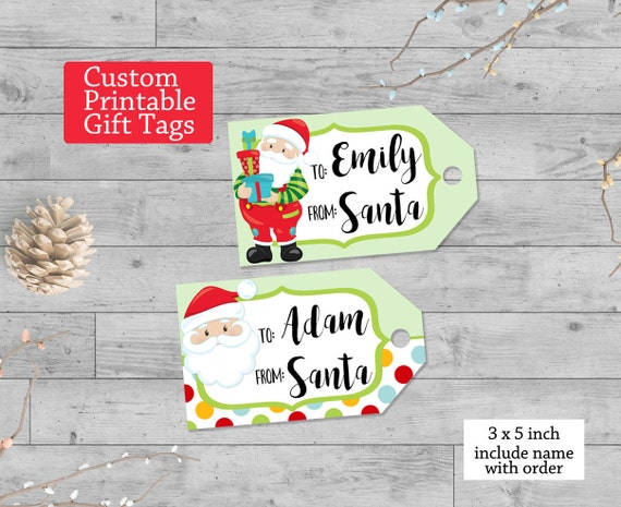 Influential image in customizable gift tags printable