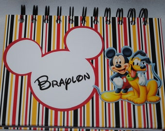 Personalized Mickey and Pluto Autograph and Photo Book