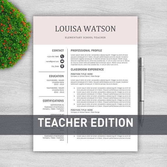 Lehrer-Lebenslauf-Vorlage Für Word / Lehrer Cv Vorlage
