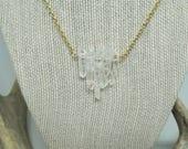 Rough Quartz Bar necklace