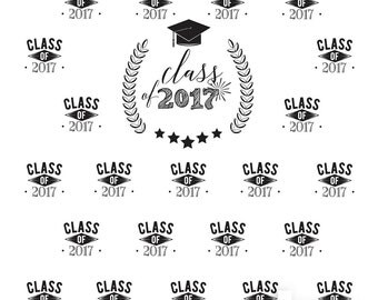 Graduation Step and Repeat Photo Booth or Party Backdrop (GRD-VS-005)
