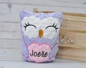 Personalized Stuffed Animal-Personalized Stuffed Owl-Plush Owl-purple owl-Cuddly Owl-Soft Gift for Kids-Owl Stuffed Toy for Girls-Girls Toys