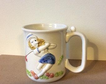 Golf Mug - Female Golfer - Vintage Mug - Coffee Cup - Golf - Teacup - Lady Golfer - Golf Gift - Golf Home Decor - Golfer
