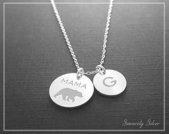 Mom Necklace, Gift For Mom, Momma Bear, Mama Bear Necklace, Mom Jewelry, Family Necklace, Mama Bear Jewelry