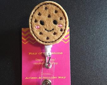 Cookie ID badge reel holder retractable clip