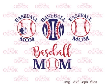 Baseball Mom SVG cut files, Baseball svg, Baseball Love svg, Baseball Monogram svg cut files for Silhouette and Cricut, svg file