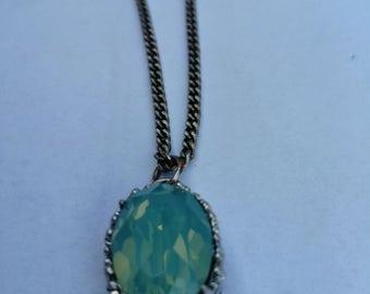collier cristal de swarovski laiton argenté