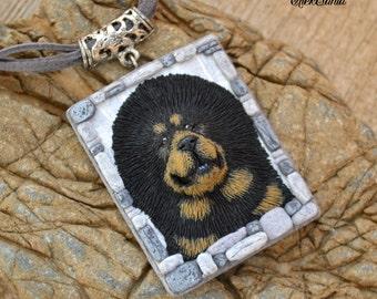 Valentine's gift Dog jewelry with Dog necklace Dog pendant Pet gift Dog lover jewelry Dog lover necklace Dog lover gift Tibetan mastiff