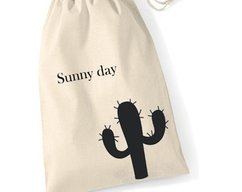 Cacti organic cotton pouch