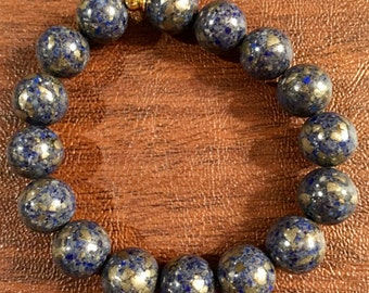 Lapis with pyrite