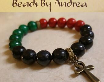 RBG Ankh bracelet