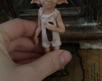 Dobby, house elf, miniature ooak