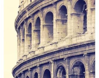 Roman Colosseum, Rome, Italy, Italian architecture, Italian home decor, fine art photography, Italy photography, Rome art print, 11x14 print