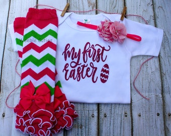 Baby Girl 1st Easter outfit, Baby Girl Easter Outfit, Newborn Girl Easter Outfit, Baby's Girl Clothes, Baby Girl Outfit, Babys First Easter
