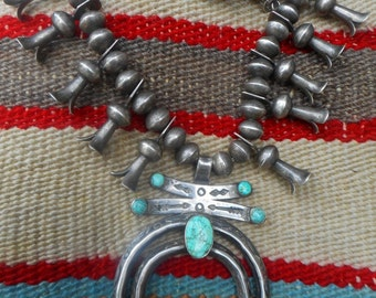 Navajo Squash Blossom Necklace