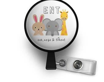 ENT Animal Retractable ID Badge Reel