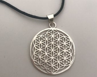 Sacred Geometry Flower of Life Pendant Necklace