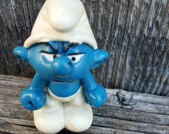 Grouchy Smurf, Smurf with Stink Face, Grumpy Smurf, Smurf Family, Smurf Lover Gift