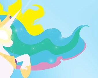 Princess Celestia, Digital Download, My Little Pony, MLP, Friendship is Magic, Print