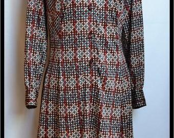 SALE// REBAJAS/ Dress 70S//Dress 1970s//Large dress//Red dress//Vintage Kleid// Vintage Klänning// Vintage Robe// Vestido Vintage