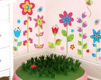Beau Flower Wall Decal, Flower Wall Decals, Wall Decals Flowers, Flower Decals  For Walls