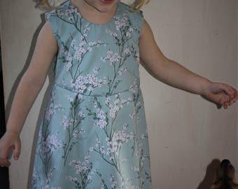 BLOSSOM Handmade Cherry blossom  Dress Ages 4-5