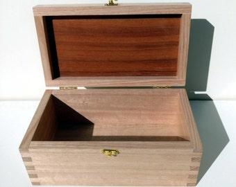 Keepsake Box/ Memory Box - Handmade from reclaimed Australian Oak with inset Jarrah lid