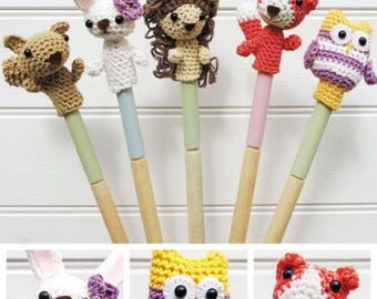 DMC Amigurumi Crochet Pattern, DMC Woodland Animal Finger Puppets Crochet Pattern, finger puppets, stuffed toys