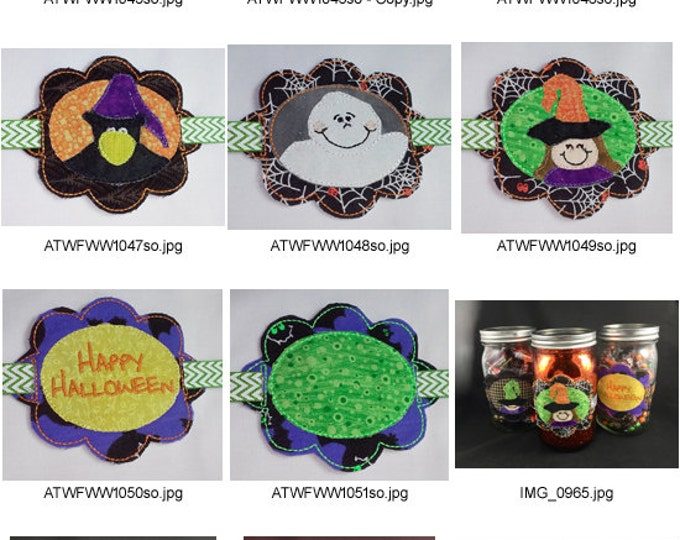 Halloween Jar Band Project. ( 7 Machine Embroidery Designs from ATW )