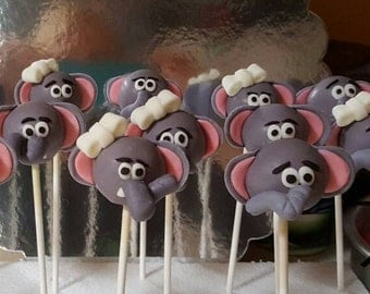 Elephant cake pops- baby shower (Order of 13)