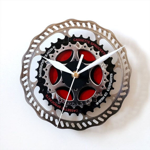 Bike Design Wall Clock : Bicycle wall clock bike unique cyclist by