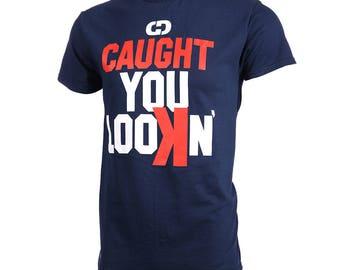 Caught You LooKn' Short Sleeve Softball T-Shirt, Softball Shirts, Softball Gift - Free Shipping!