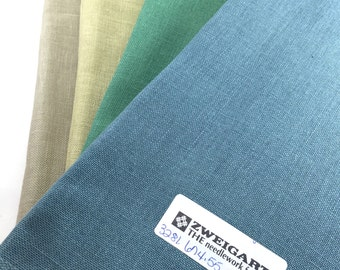 Zweigart Linen: Edinburgh 32ct & Cashel 28ct - 2000 Collection.  Free Shipping (within USA only)
