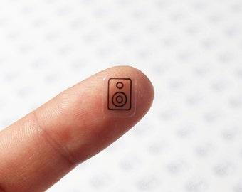77pcs Clear Waterproof Planner Sticker. clear speaker sticker, speaker label, icon, transparent sticker, clear sticker