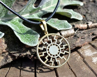 Black Sun pendant, Sun Wheel, Sonnenrad, Slavic jewelry, Slavic amulet
