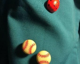 Cute Small Softball  Soft Ball Women Sports Clog Shoe Charms