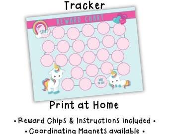 Chore Chart • Univorn • Behavior Tracker • Routine Chart • Kids Chores • Child Attitude Chart • Magnetic Chore Chart • PRINTABLE