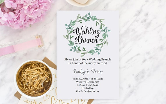 Beau Wedding Brunch Invitation, Green Brunch Invite, Post Wedding Brunch  Invitation, Newlywed Brunch, Editable INSTANT DOWNLOAD, Editable File