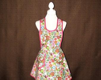 Womens Aprons, Full apron woman, 1940s Retro apron, Cooking apron, Woman Apron, Retro inspired apron, Wrap tie apron, Vintage style