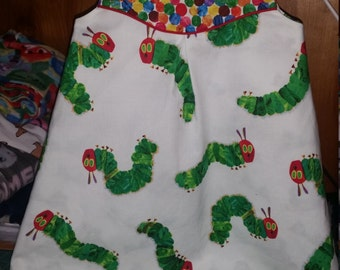 Very Hungry Caterpillar Dress, Available by Special Order:  Puperita Pattern, Baby, Toddler, Girl, Reversible Caterpillars and Butterflies