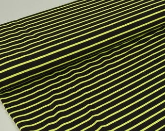 Sweat Laurine - stripes - black - neon green Hilco