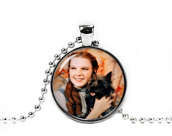 Dorothy and Toto Necklace Wizard of Oz Pendant Photo Glass Pendant
