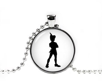 Peter Pan Necklace Peter Pan Pendant Peter Pan Jewelry Peter Pan Silhouette