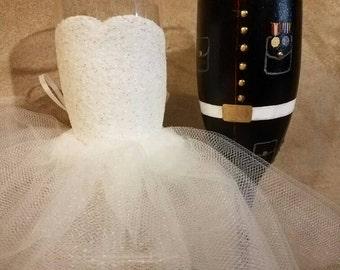 Military Wedding Toasting Glasses