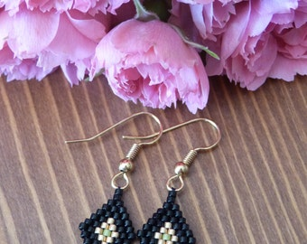 LEONOR Miyuki beads earrings