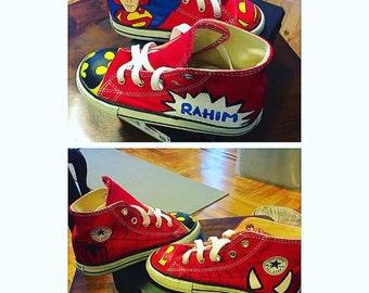 Superhero Converse Sneakers