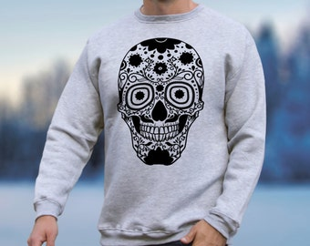 Day of the Dead Clothing Mexican Clothing for Women Men Sweatshirt Mexican Sweater with Skull Sweater Skull Sweatshirt Printed Pullover 019